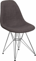 Elon Series Siena Gray Fabric Chair with Chrome Base [FH-130-CCV1-FC100-GG]