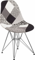 Elon Series Turin Patchwork Fabric Chair with Chrome Base [FH-130-CCV1-PK4-GG]
