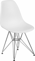 Elon Series White Plastic Chair with Chrome Base [FH-130-CPP1-WH-GG]