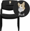Embroidered Black Leather Executive Side Reception Chair with Sled Base [BT-510-LEA-BK-EMB-GG]