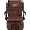 Embroidered Folding Stadium Chair in Brown [TY2710-BN-EMB-GG]