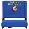 Embroidered Grandstand Comfort Seats by Flash with Ultra-Padded Seat in Blue [XU-STA-BL-EMB-GG]
