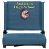 Embroidered Grandstand Comfort Seats by Flash with Ultra-Padded Seat in Teal [XU-STA-GN-EMB-GG]