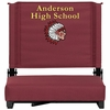 Embroidered Grandstand Comfort Seats by Flash with Ultra-Padded Seat in Maroon [XU-STA-M-EMB-GG]