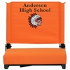 Embroidered Grandstand Comfort Seats by Flash with Ultra-Padded Seat in Orange [XU-STA-OR-EMB-GG]