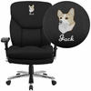 Embroidered HERCULES Series 24/7 Intensive Use Big & Tall 400 lb. Rated Black Fabric Executive Swivel Chair with Lumbar Knob [GO-2085-EMB-GG]