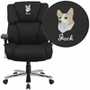 Embroidered HERCULES Series 24/7 Intensive Use Big & Tall 400 lb. Rated Black Fabric Executive Swivel Chair with Lumbar Knob [GO-2149-EMB-GG]