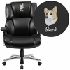 Embroidered HERCULES Series 24/7 Intensive Use Big & Tall 400 lb. Rated Black Leather Executive Swivel Chair with Lumbar Knob [GO-2149-LEA-EMB-GG]