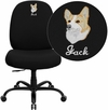 Embroidered HERCULES Series Big & Tall 400 lb. Rated Black Fabric Executive Swivel Chair [WL-715MG-BK-EMB-GG]