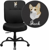 Embroidered HERCULES Series Big & Tall 400 lb. Rated Black Leather Executive Swivel Chair [WL-735SYG-BK-LEA-EMB-GG]