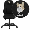 Embroidered High Back Black Fabric Multifunction Ergonomic Swivel Task Chair [BT-90297H-EMB-GG]