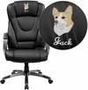 Embroidered High Back Black Leather Executive Swivel Chair with Arms [BT-9069-BK-EMB-GG]