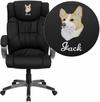 Embroidered High Back Black Leather Executive Swivel Chair with Arms [BT-9088-BK-EMB-GG]