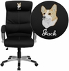 Embroidered High Back Black Leather Executive Swivel Chair [H-9637L-1C-HIGH-EMB-GG]