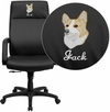 Embroidered High Back Black Leather Executive Swivel Chair with Memory Foam Padding with Arms [BT-90033H-BK-EMB-GG]