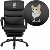 Embroidered High Back Black Leather Executive Reclining Swivel Chair with Comfort Coil Seat Springs and Arms [BT-90519H-EMB-GG]