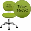 Embroidered Mid-Back Apple Green Mesh Swivel Task Chair with Chrome Base [H-2376-F-GN-EMB-GG]