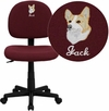 Embroidered Mid-Back Burgundy Fabric Swivel Task Chair [BT-660-BY-EMB-GG]