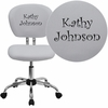 Embroidered Mid-Back White Mesh Swivel Task Chair with Chrome Base [H-2376-F-WHT-EMB-GG]