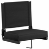 Grandstand Comfort Seats by Flash with Ultra-Padded Seat in Black [XU-STA-BK-GG]