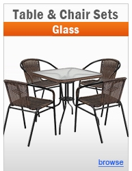 Glass Table & Chair Table Sets