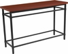 Granada Hills Collection Norway Cherry Inlaid Wood Grain Finish Console Table with Black Metal Legs [NAN-JH-1794ST-GG]