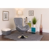 Egg Series Gray Leather Side Reception Chair [CH-162430-GY-LEA-GG]