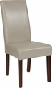Greenwich Series Beige Leather Parsons Chair [QY-A37-9061-BGL-GG]