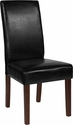 Greenwich Series Black Leather Parsons Chair [QY-A37-9061-BKL-GG]