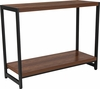 Grove Hill Collection Rustic Wood Grain Finish Console Table with Black Metal Frame [NAN-JH-1747-GG]