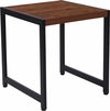 Grove Hill Collection Rustic Wood Grain Finish End Table with Black Metal Frame [NAN-JH-1746-GG]