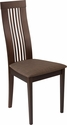 Hamlet Espresso Finish Wood Dining Chair with Framed Rail Back and Golden Honey Brown Fabric Seat [ES-CB-2411YBH-E-GH-GG]