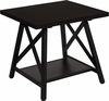 Hancock Park Collection Rustic Espresso Wood Finish Side Table [NAN-JH-1795ET-GG]