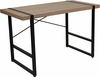 Hanover Park Rustic Wood Grain Finish Console Table with Black Metal Frame [NAN-JN-21738-GG]
