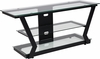 Harbor Hills Glass TV Stand with Black Metal Frame [NAN-JH-1760-GG]