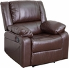 Harmony Series Brown Leather Recliner [BT-70597-1-BN-GG]