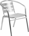 Heavy Duty Commercial Aluminum Indoor-Outdoor Restaurant Stack Chair with Triple Slat Back [TLH-1-GG]