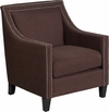 HERCULES Compass Series Transitional Brown Fabric Chair with Walnut Legs [CH-US-173030-BN-GG]
