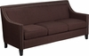 HERCULES Compass Series Transitional Brown Fabric Sofa with Walnut Legs [CH-US-173030-3-BN-GG]