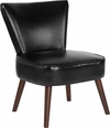 HERCULES Holloway Series Black Leather Retro Chair [QY-A02-BK-GG]