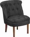 HERCULES Kenley Series Black Fabric Tufted Chair [QY-A01-BK-GG]