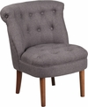 HERCULES Kenley Series Gray Fabric Tufted Chair [QY-A01-GY-GG]