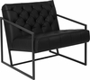 HERCULES Madison Series Black Leather Tufted Lounge Chair [ZB-8522-BK-GG]