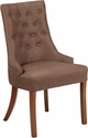 HERCULES Paddington Series Brown Fabric Tufted Chair [QY-A08-BN-GG]