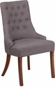 HERCULES Paddington Series Gray Fabric Tufted Chair [QY-A08-GY-GG]