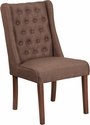 HERCULES Preston Series Brown Fabric Tufted Parsons Chair [QY-A91-BN-GG]