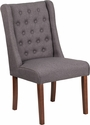 HERCULES Preston Series Gray Fabric Tufted Parsons Chair [QY-A91-GY-GG]