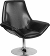 HERCULES Sabrina Series Black Leather Side Reception Chair [CH-102242-BK-GG]