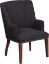 HERCULES Sculpted Comfort Series Black Fabric Side Reception Chair [CH-162930-BK-FAB-GG]