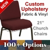 HERCULES Series 21''W Customizable Church Chair with Book Rack and Gold Vein Frame [FD-CH-21-GV-UNP-BAS-CUSTOM-GG]